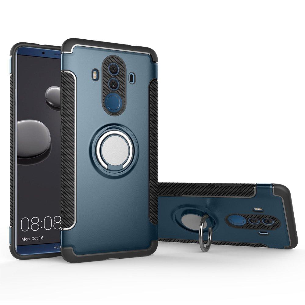 Compatible avec Magn/étique Support Voiture BLUGUL Coque Huawei Mate 10 Pro Support /à Anneau Rotatif /à 360 Degr/és Housses pour Huawei Mate 10 Pro Bleu