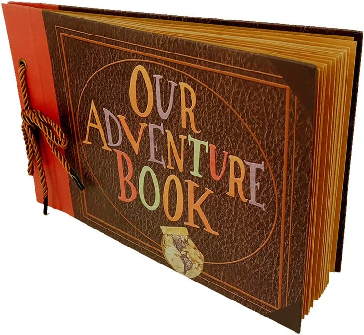 Photo Album Scrapbook Gift DIY Handmade Album Scrapbook Movie Up Travel Scrapbook for Anniversary Suitable for Lover Friends and Kids etc (New Version)