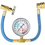 KKmoon Equipo del indicador de la manguera de medición de la recarga del refrigerante del aire