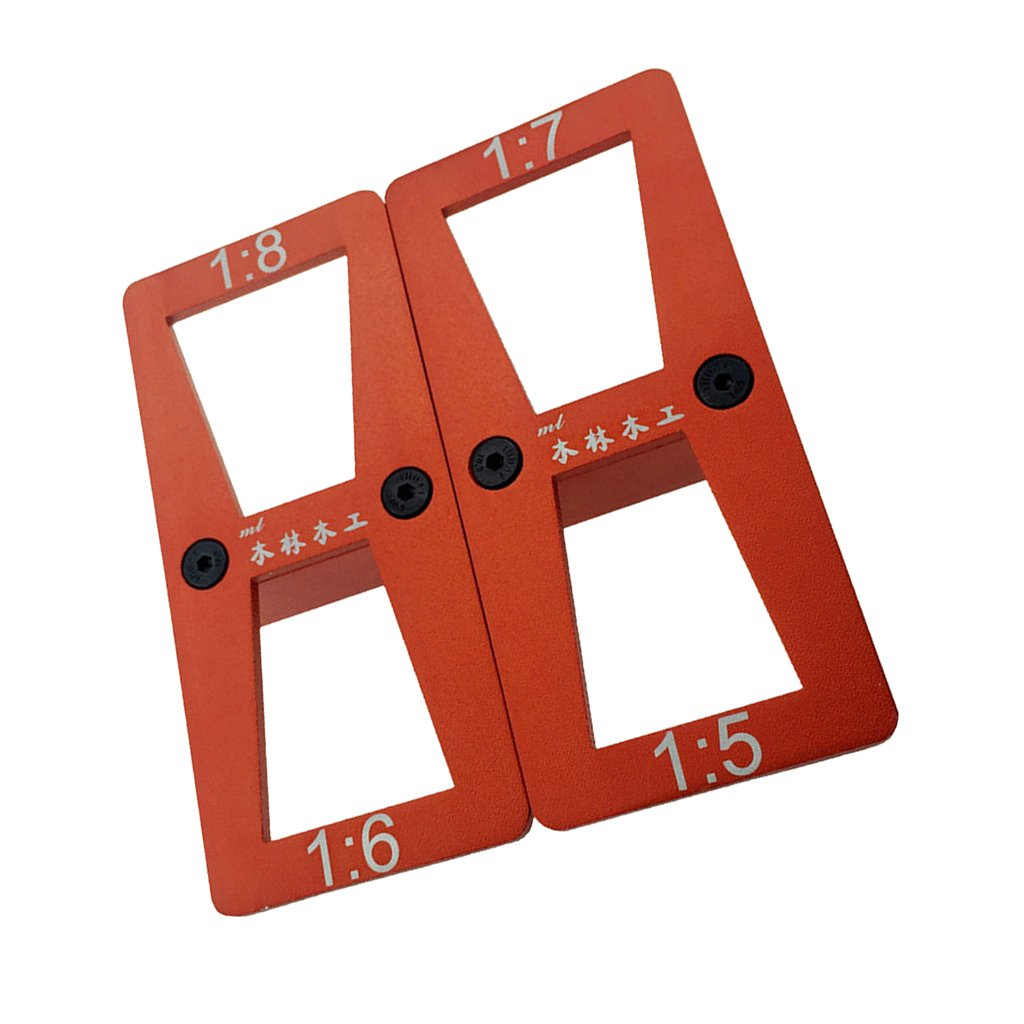 MagiDeal 2pcs/set Dovetail Template Marking Marker Size 1:8-1:6 And 1:7-1:5 New