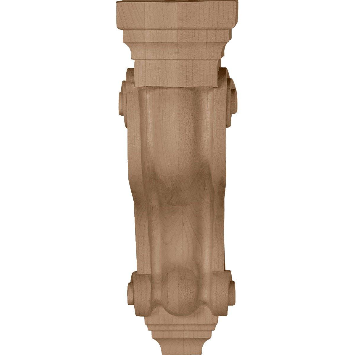 , 2-Pack Alder Ekena Millwork COR03X08X13TSAL-CASE-2 3 7//8 inch W x 8 inch D x 13 inch H Boston Traditional Scroll Corbel