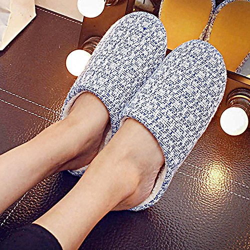 Winter Slipper Slip amp; 2 Spa 1 Cotton Home Color Toe Full Knit Slippers Sasairy Adult Anti Autumn Pair ABpZqn4t