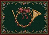Milliken Holiday Collection French Horn, 5'4'' X7'8'' Rectangle, Garland