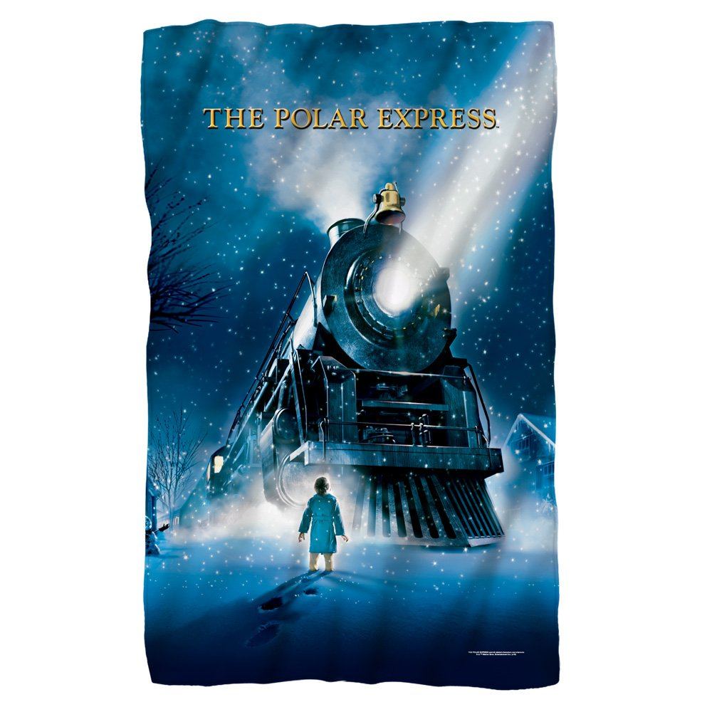 Movie Poster -- The Polar Express -- Fleece Throw Blanket (36''x58'')