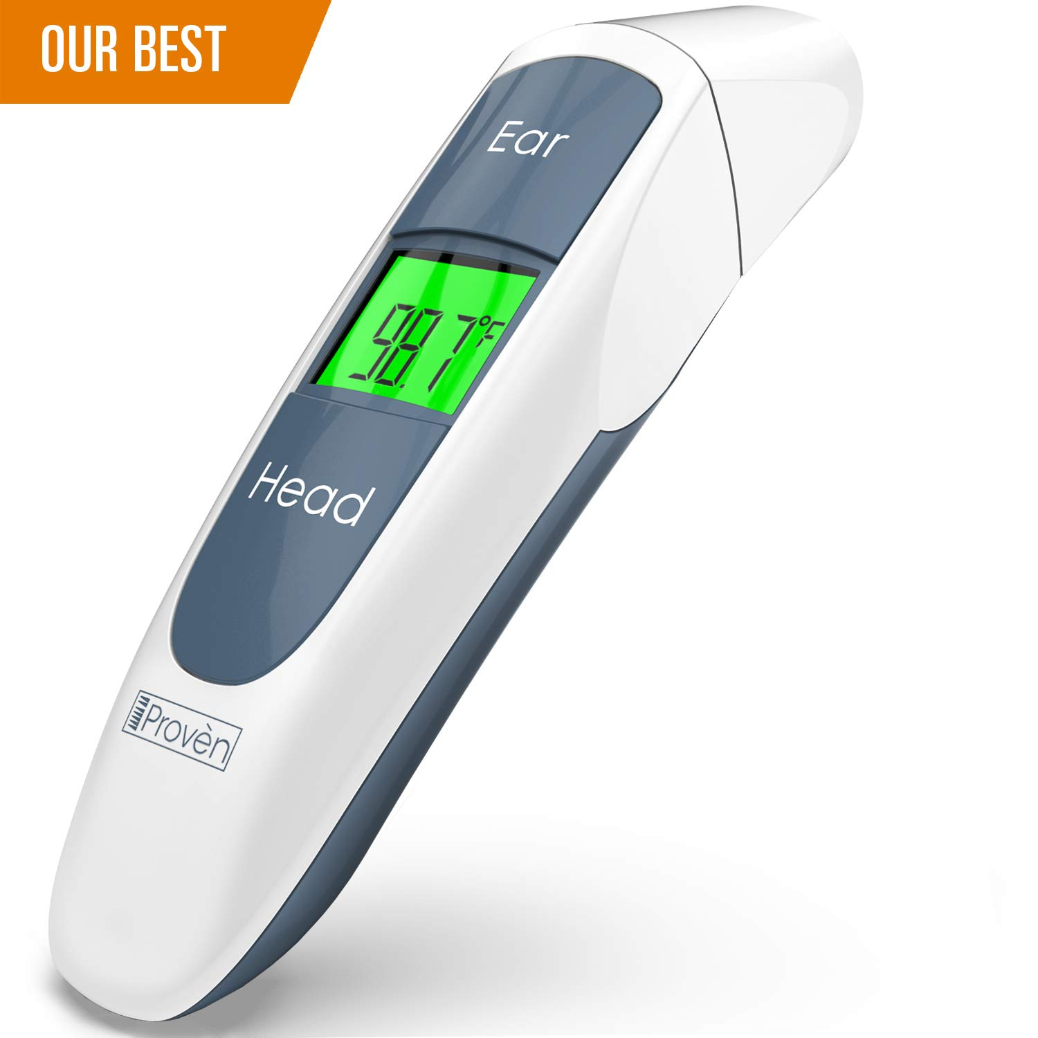Best Medical Digital Ear Thermometer (Termometro) with Temporal Forehead Function - for Baby, Infant and Kids - Upgraded Tympanic Fever Scan Lens Technology for Unmatched Accuracy - New 2018 DMT-316