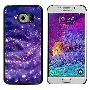 TopCaseStore / la caja del caucho duro de la cubierta de protección de la piel - Glitter Snow Bubbles Purple - Samsung Galaxy S6 EDGE SM-G925