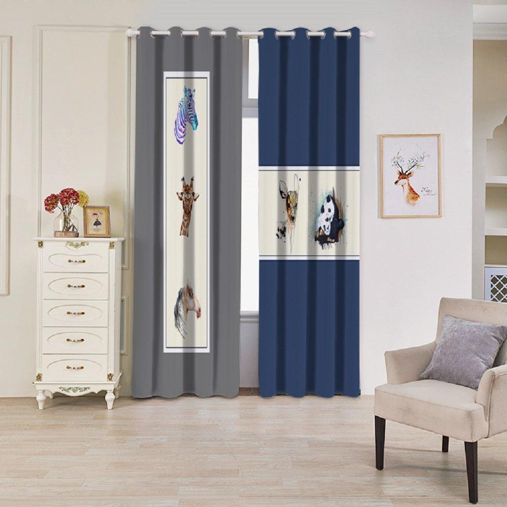 UniEco Gardine Vorhänge 2 Stück 132x215cm Verdunklungsvorhang Verdunklungsgardinen mit Ösen für Schlafzimmer