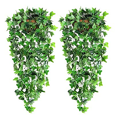 CEWOR Artificial Garlands Hanging Plant Vine for Wedding Party Garden Wall Decoration