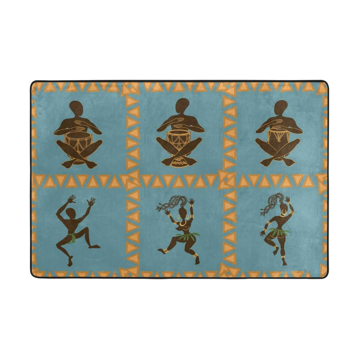 Floor Mat Doormat, Tropic Dance People Entrance Mat Rug Indoor Outdoor Front Door Decor Absorbent Bathroom Rubber Mats Non Slip 36 x 24 Inch, 72 x 48 Inch