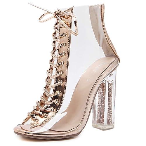 ANNIESHOE Botas Mujer Botines Sexy Elegantes Vestir Zapatos Tacon Alto: Amazon.es: Zapatos y complementos