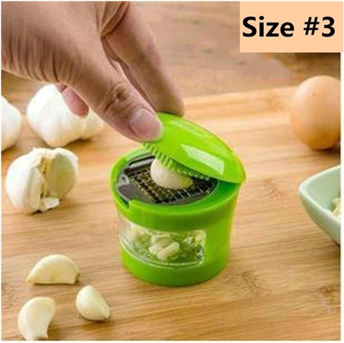 Garlic Press Kitchen Plastic Hand Helper Peeler Cutters Crusher Twist Tool IF