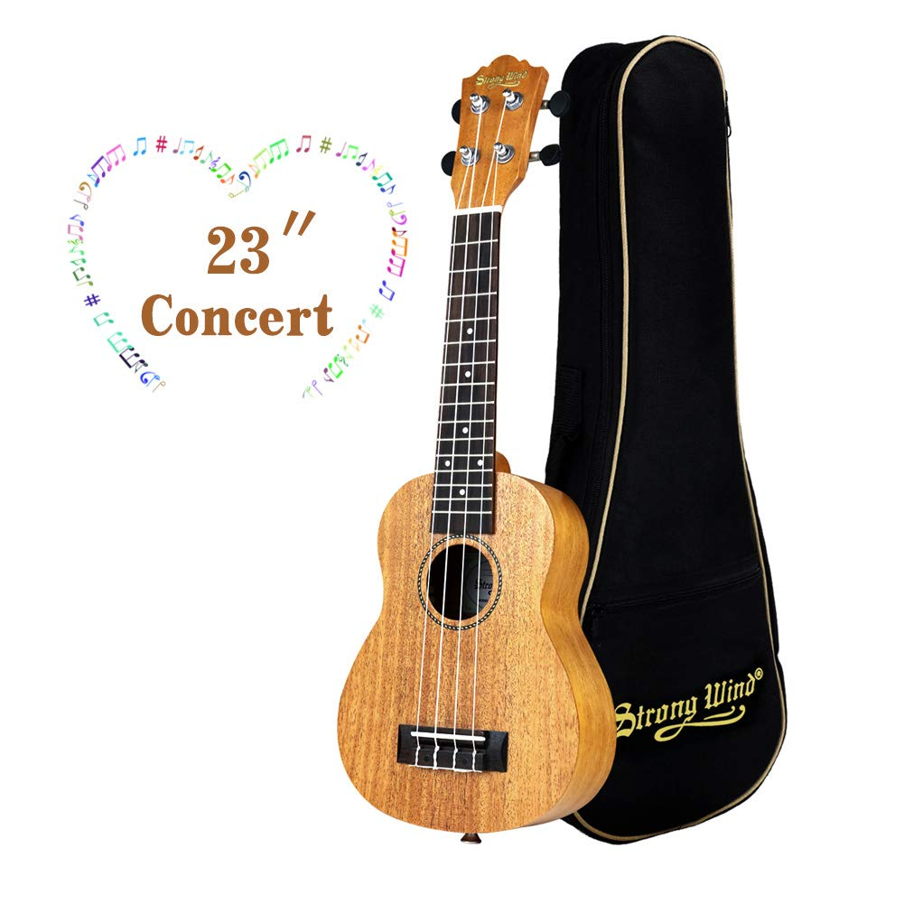 Ukulele Mahogany Ukuleles for Beginner Ukulele Pack Concert Ukulele Starter Kid Guitar 23 Inch Uke for Kids Student and Adult with Gig Bag