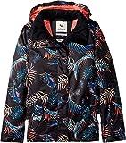 Roxy Big Girls' Jetty Snow Jacket, True Black_Neon Palms, 8/Small