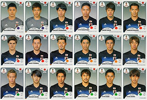 PANINI WORLD CUP 2018 STICKERS - 18 JAPAN STICKERS - TEAM SET - PLAYERS ONLY #654 - #671