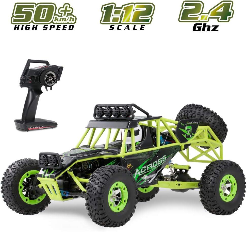 子供の大人のためのリモートコントロールRCカー1:12スケール4WDの毎時50キロの高速RCトラック2.4GHzのラジコンオフロードRCモンスタートラックホビーカーバギー