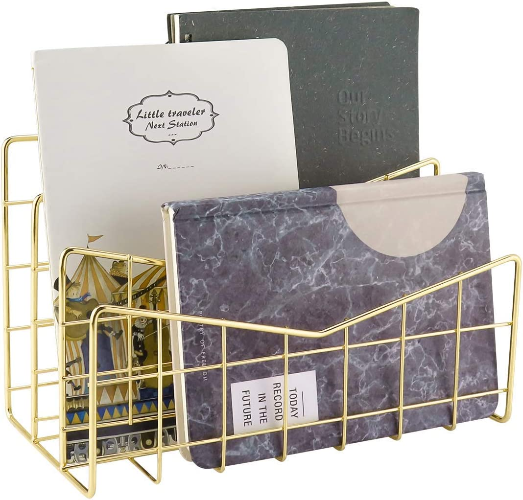 Organizer multifunzione da scrivania Moriggem portapenne in metallo supporto da tavolo con cassetto con porta lettere organizer da ufficio carta da lettere