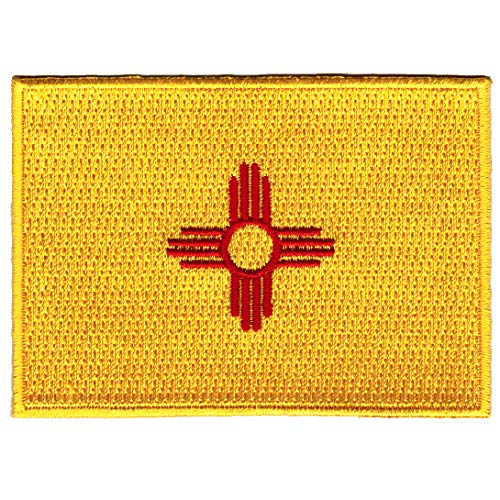 (New Mexico State Flag Embroidered Patch Iron-On NM Emblem)