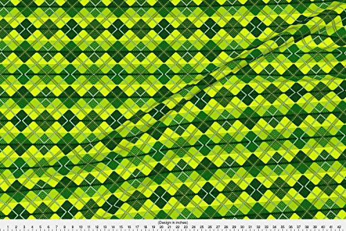- Spoonflower Eugene Oregon Football Argyle Scotch University Duck Fabric Eugene Argyle by Pd Frasure Printed on Modern Jersey Fabric by the Yard