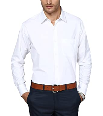 3dcc80e3f5 Shaftesbury London Men s Cotton Formal Shirt  Amazon.in  Clothing ...