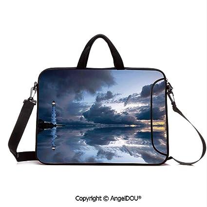 efd3038b55cd Amazon.com: AngelDOU Neoprene Printed Fashion Laptop Bag Lighthouse ...