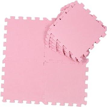 Alfombra puzzle de goma EVA para niños. 9 piezas. 90 x 90 x