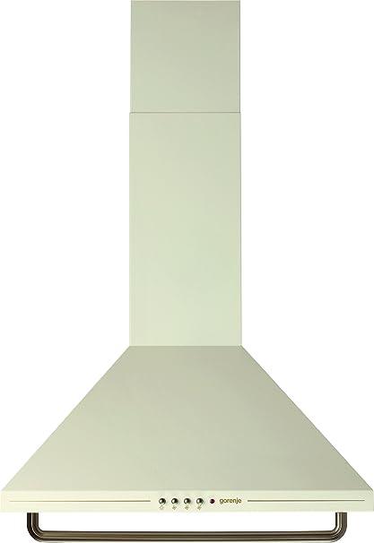 Gorenje DK63CLI - Campana extractora de chimenea incorporada en D, color marfil y crema: Amazon.es: Grandes electrodomésticos