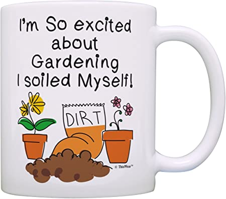 Master Gardener Gifts I M So Excited About Gardening I Soiled Myself Garden Gifts For Men Gardening Gifts For Women Garden Gift Ideas Gift Coffee Mug Tea Cup White Amazon Co Uk Kitchen Home