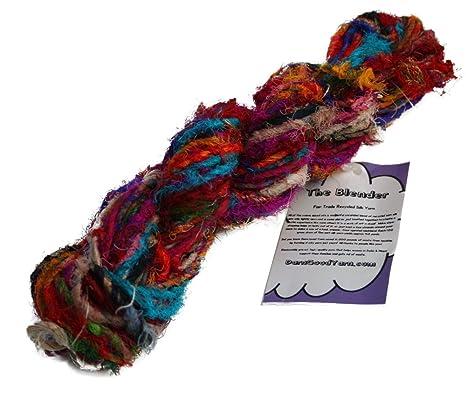 La Licuadora Live Wire sari hilo: hilo de seda reciclado sin ...