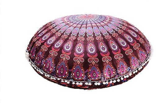YunNasi - Funda de cojín Redonda con diseño de Mandala ...