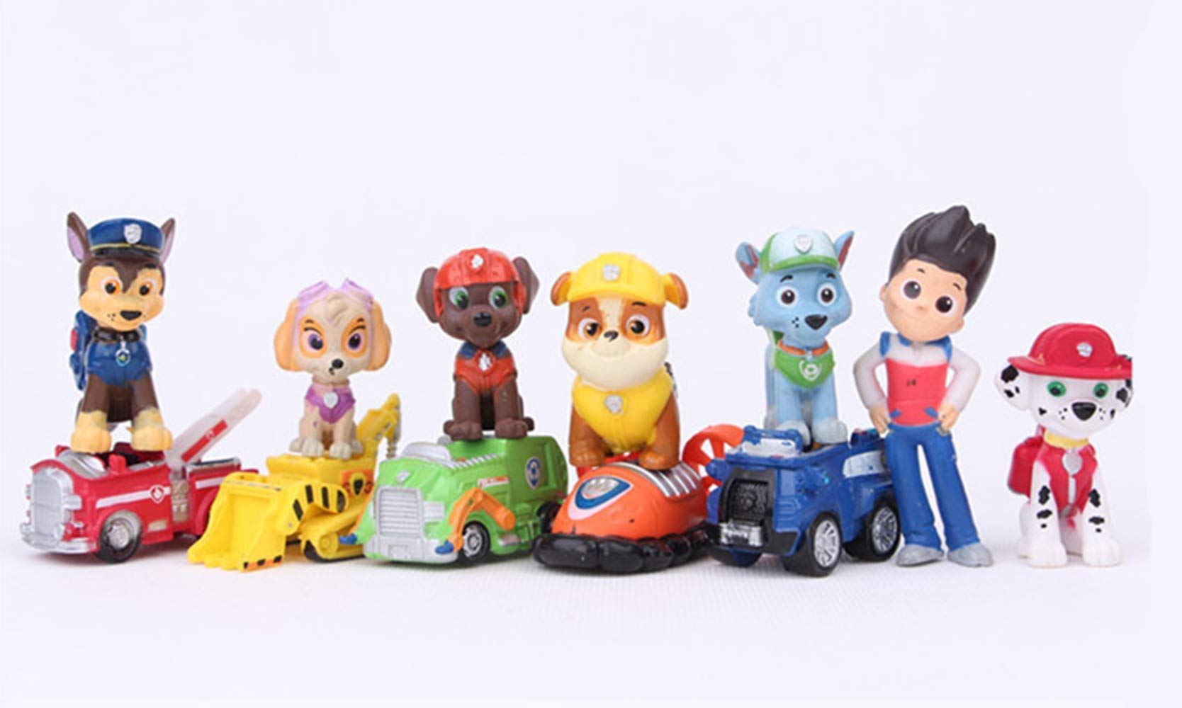 12PCS paw patrol cake ingredients, cake and cupcake decorations, paw patrol mini toys, children's birthday shower party suppli by ZCRR (Image #3)
