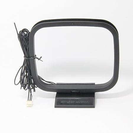 FM AM Antena de Bucle con 3-Pin Miniconector para Sistemas Receptores de AV Estéreo Sony Sharp