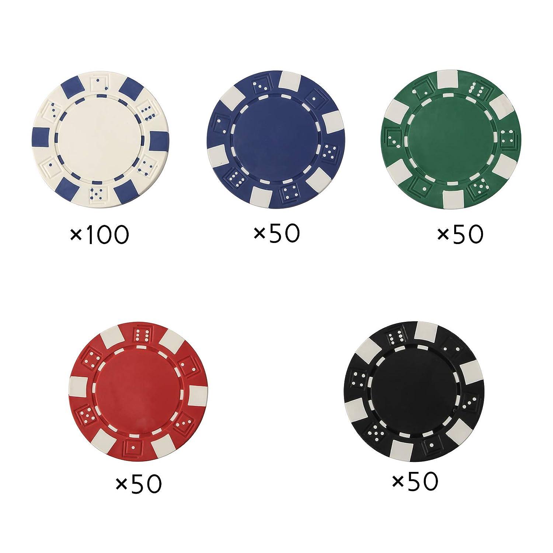 Grandma Shark Texas Holdem Poker Chips Conjunto con Caso de Aluminio Blackjack Juego con malet/ín de Transporte y 2 Barajas de Tarjetas Dealer peque/ños Ciegos Grandes Botones Ciegos y 5 Dados 300pcs