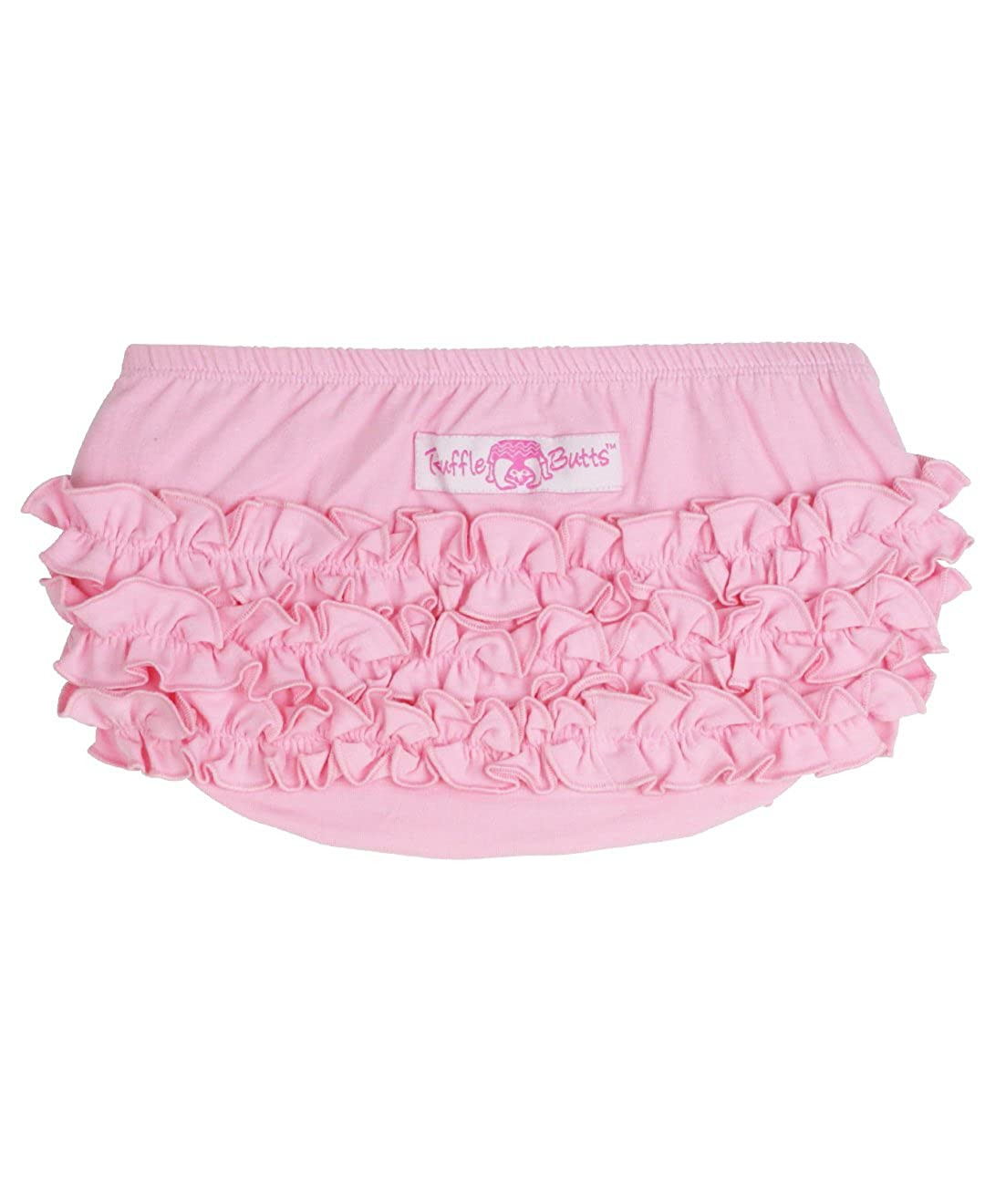 RuffleButts Little Girls Knit Ruffled Bloomer RBKBL2T-0000