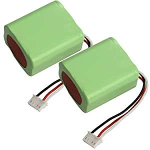 [2XPack] 7.2 Volt 3000mAh Battery for iRobot Braava 380t 380, Mint5200 5200B 5200C NI-MH Vacuum Cleaner Battery Replacement