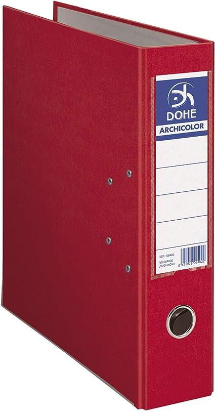 Dohe Archicolor - Archivador A4, lomo ancho, color rojo: Amazon.es ...