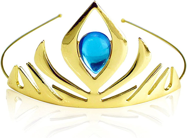 Gold Kuzhi Frozen Elsa Tiara Coronation Crown