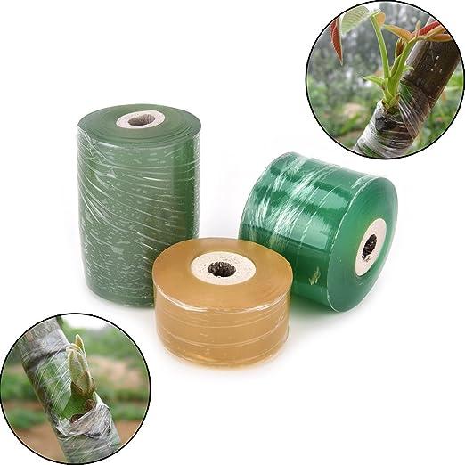 3 rollos cinta para injertos la humedad barrera estirable claro ...