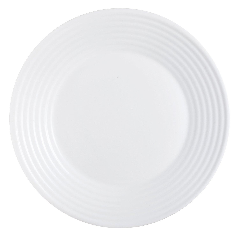 18 Piezas Blanco Luminarc Harena Vajilla de Vidrio Opal Extra Resistente para 6 Personas 100/% higi/énico