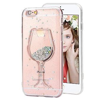 coque iphone 8 verre de vin