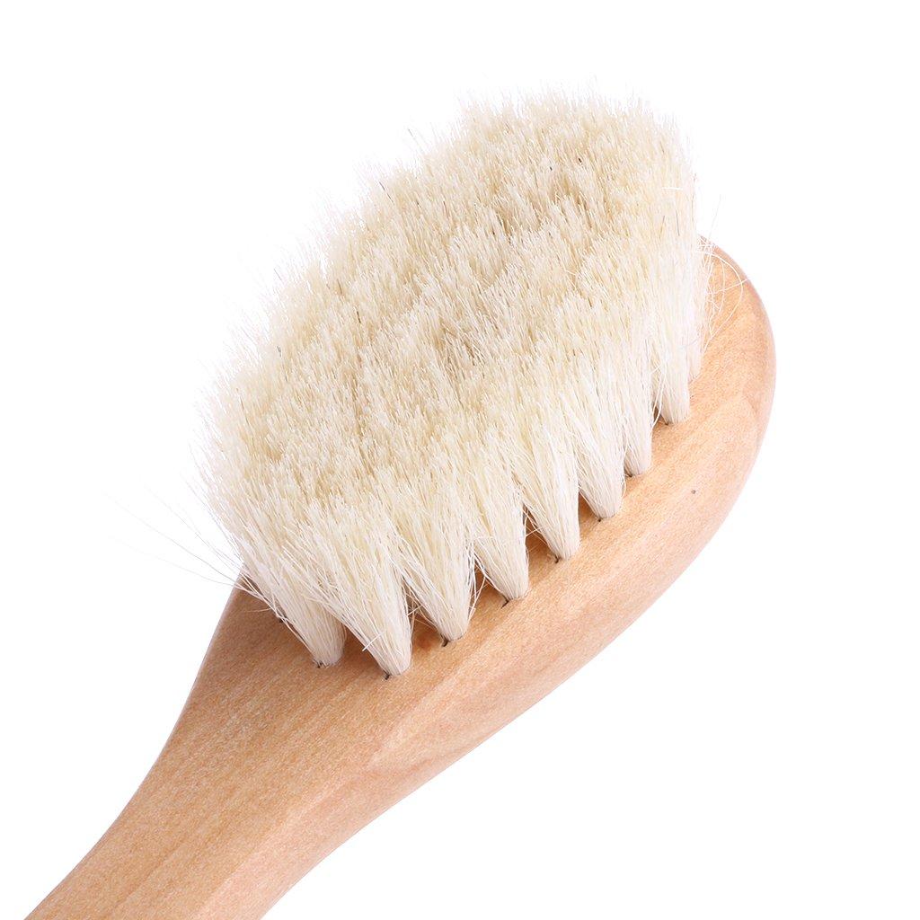 LANDUM Poign/ée en Bois Brosse B/éb/é Brosse /À Cheveux Nouveau-n/é Brosse /À Cheveux Nourrisson Peigne Masseur De T/ête