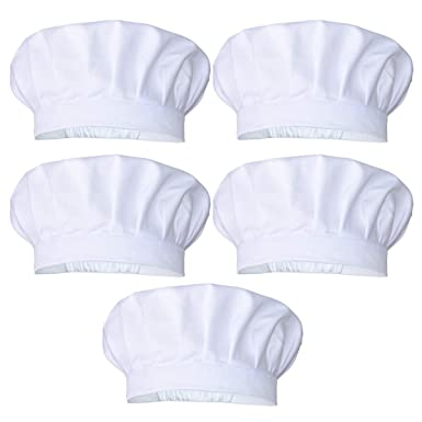 Amazon.com: JoyFamily - Gorro de chef con felpudo suave y ...
