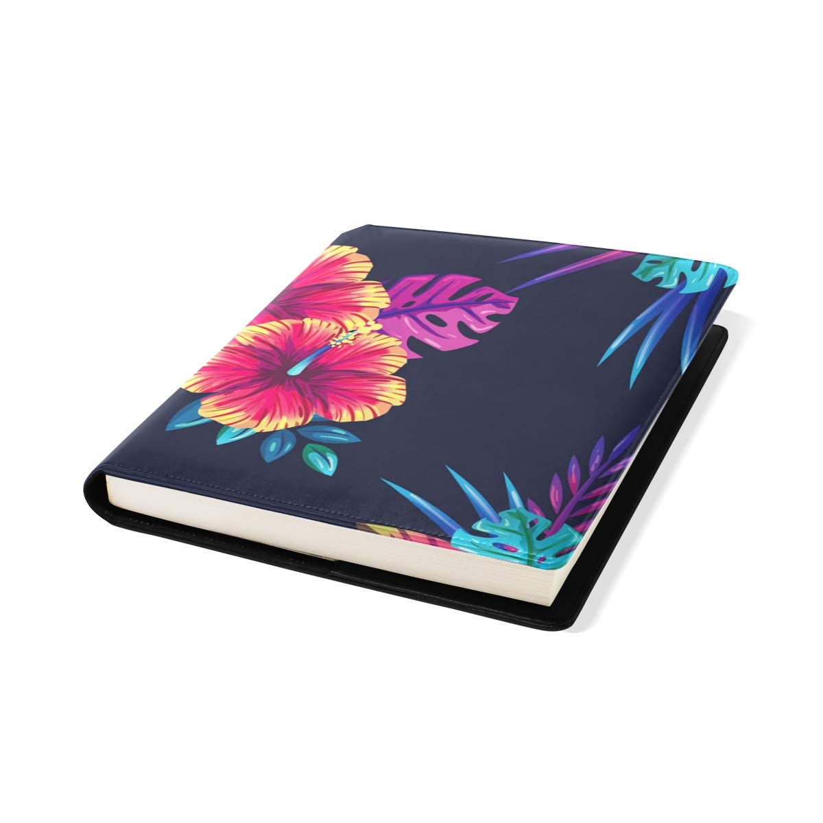 Jumbo Size Book Covers Notebook Textbook School Supplies Office Homecoming Tropical Purple Foral