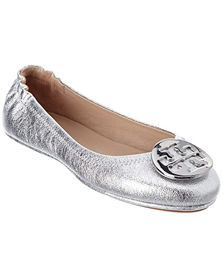 d8a416713ced0e Tory Burch Reva Shoes Ballet Minnie Travel Flats Soft Naplak Leather TB Logo  (9