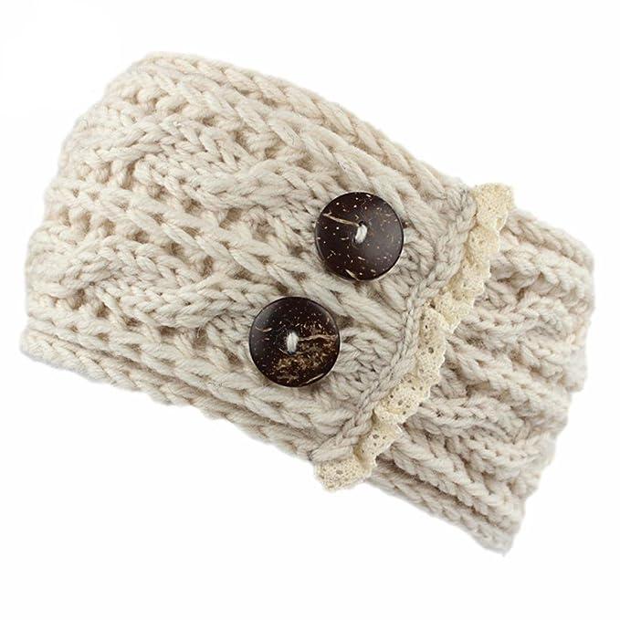 Saingace Frauen Häkeln Strickte Geflochtene Knit Wolle Hut Cap