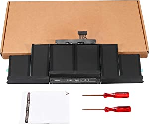 A1417 Replacement New Laptop Battery Compatible with MacBook Pro 15 Inch Retina A1398(Only Fit 2012 Early 2013 Version) MC975 MC976 ME664 ME665 MD831 020-7469-A (11.26V/8800mAh)