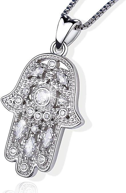 Fatima Palm Halskette Evil Eye Hamsa Hand Kette Anhänger Schmuck für  FrauenYRDE