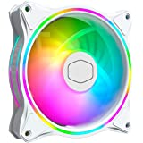 Cooler Master MasterFan MF120 Halo White Edition Duo-Ring Addressable RGB 120mm Fan with 24 Independently-Controlled…