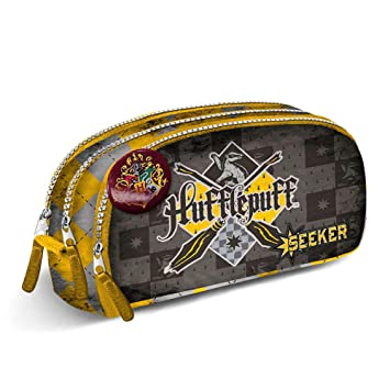 Estuche escolar triple Harry Potter Hufflepuff: Amazon.es ...