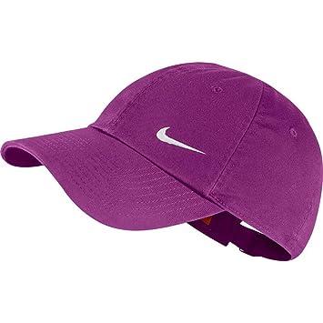 Nike Heritage Swoosh Cap Gorra, Mujer, Morado (Purple Dusk/White), Talla Única: Amazon.es: Deportes y aire libre