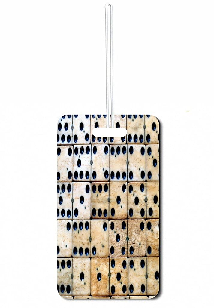 Wooden Dominoes Jacks Outlet Set of 2 Luggage Tags with Custom Back